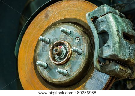 Rusty Car Disc Brake