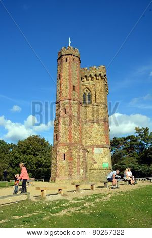 Leith Hill Tower On North Downs, Surrey, Uk.