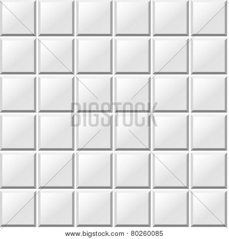 white tiles seamless pattern vector texture