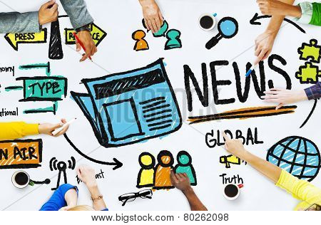 News Journalism Information Publication Update Media Advertisment Concept