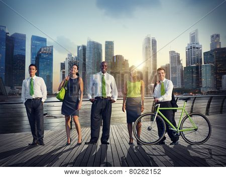 Business People Green Business Corporate Cityscape Professional Concept