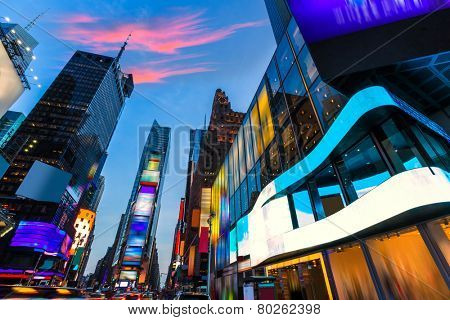 Times Square Manhattan New York all the ads deleted US