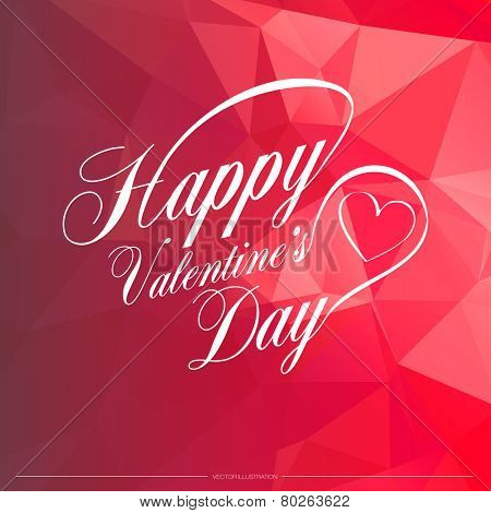 Happy Valentine's Day Card Typography Vector Illustration