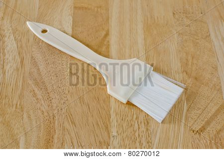 Pastry Brush Baking Utensils Ona Wood Background