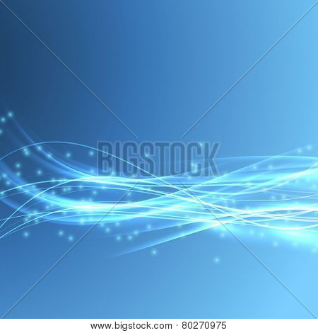 Speed Bright Swoosh Wave Blue Modern Bandwidth