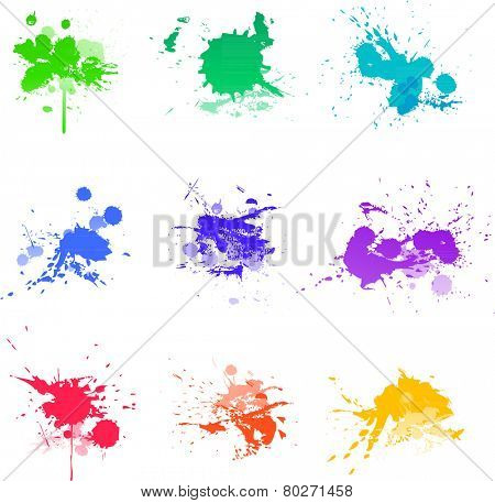 Paint splats abstract art colors