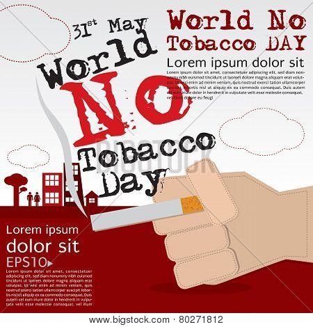 May 31st World no tobacco day illustration vector.