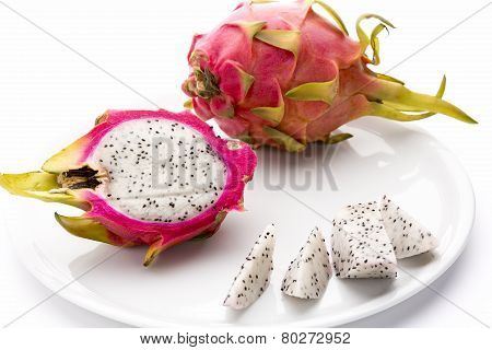 Pitaya Fruit Chips, A Half And An Entire Fruit