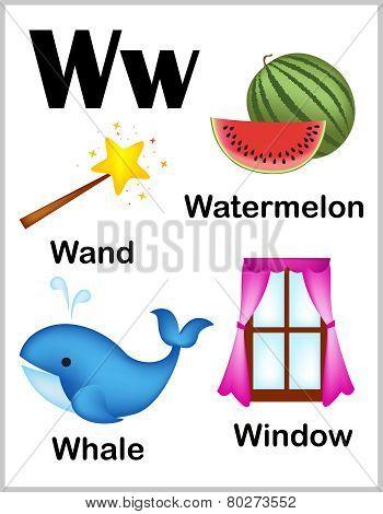 Alphabet Letter W Pictures
