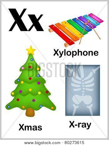 Alphabet Letter X Pictures