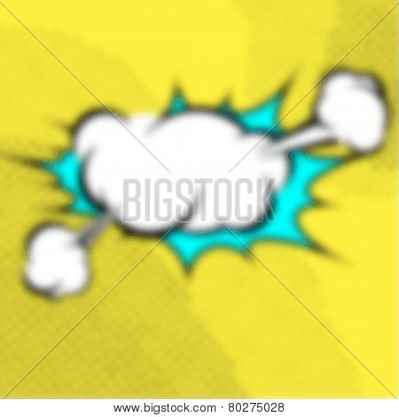 Blurred Pop Art Book Explosion Cloud Retro