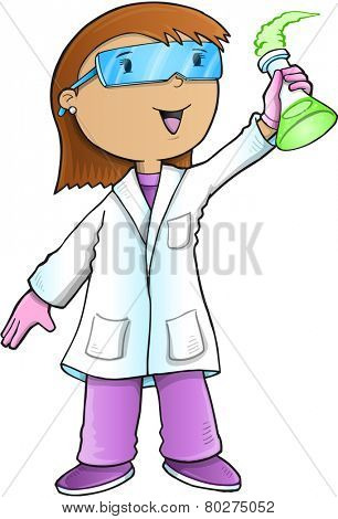 Scientist Doctor Vector Illustration Art