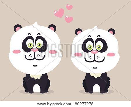 Pandas in love