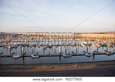 Harbour With Yachts At Ijmuiden In The Netherlands