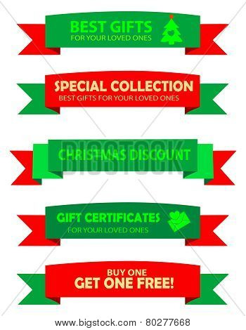 Christmas Sale Ribbons
