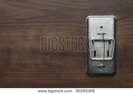 empty mousetrap on the table