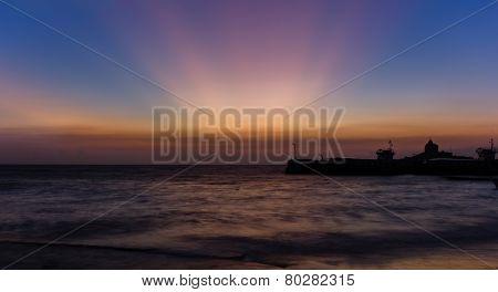 Sunrise in Kanyakumari South India