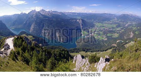 Konigsee lake in Bavarian Alps