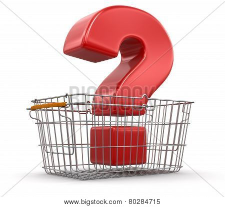 Shopping Basket and Quest (clipping path included)