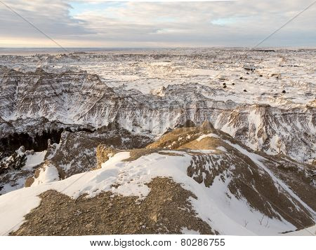 Badlands In The Winter