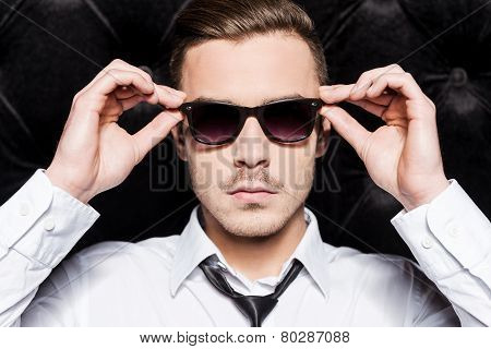 Confident Handsome Man in Sunglasses