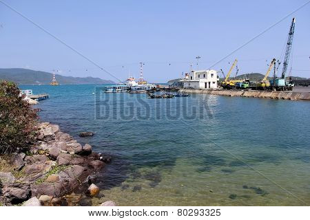 Small Seaport In Vietnam
