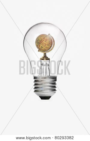 Globe Inside Light Bulb
