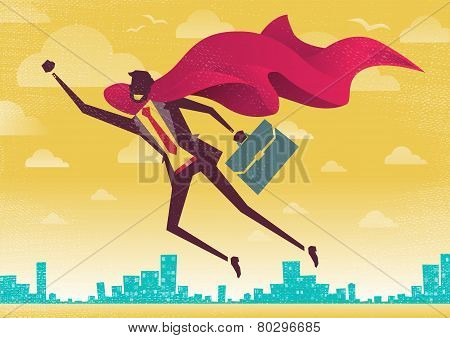 Businessman Is A Superhero.
