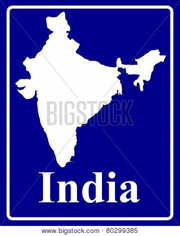 Silhouette Map Of India