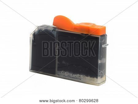 Inkjet Printer Cartridge Isolated On A White Background