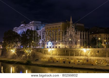Tiber River Embankment, Rome