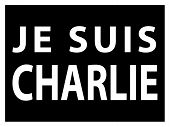 image of extremist  - JE SUIS CHARLIE text over black movement against terrorism - JPG