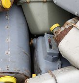 pic of landfills  - old obsolete gas meters in a landfill of toxic waste special - JPG