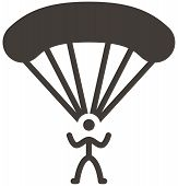 pic of parachute  - The parachute sport icon from Extreme sports icon set - JPG