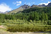 foto of south tyrol  - Little lake in the Martell Valley in South Tyrol - JPG