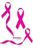picture of breast cancer awareness ribbon  - Breast cancer awareness pink ribbon - JPG