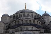 pic of cupola  - Cupola of blue mosque in Istanbul Turkey - JPG