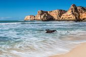 pic of vilamoura  - Summer beach with clear water - JPG