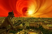 foto of storms  - Apocalypse of sun explosion and magnetic storm  - JPG