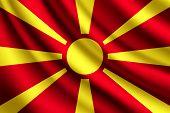 image of macedonia  - Illustration of the waving flag of Macedonia - JPG