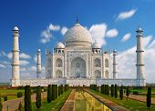 picture of indian  - India, Taj Mahal. Indian palace Taj mahal world landmark.