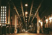 foto of bridge  - Chicago City Train Bridge in Downtown - JPG