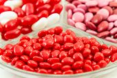 image of cinnamon  - Assorted Valentine candies of red and white jelly beans - JPG