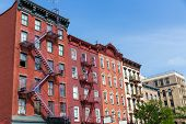 foto of west village  - West Village in New York Manhattan building facades USA NYC - JPG