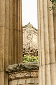 pic of neo-classic  - A view of the architectural details of the Palace of Fine Arts in San Francisco California United States of America - JPG