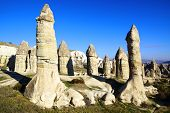 picture of chimney rock  - Picturesque landscape with Fairy chimneys - JPG