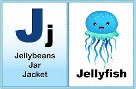 foto of letter j  - Alphabet letter J with clip - JPG