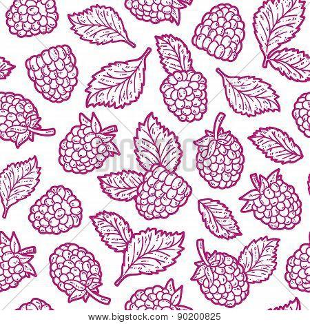 Outline berries pattern