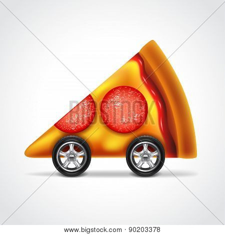 Pizza Delivery Concept Vector Illustration