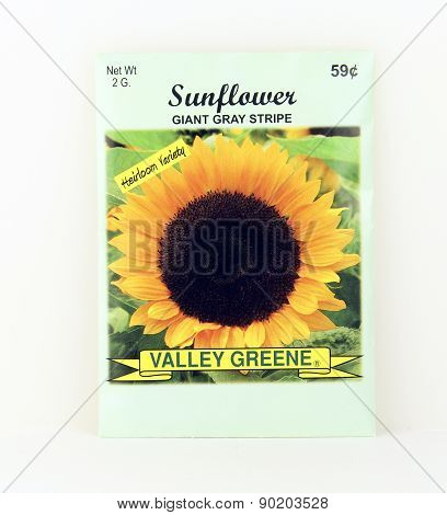 Package Of Valley Greene Sunflower Seeds